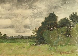Image of Landscape with Gray Clouds