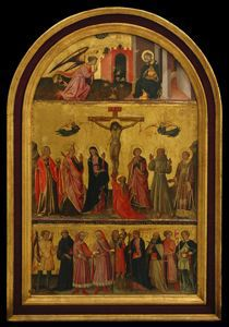 Image of Crucifixion, The Annunciation and a Group of Saints
