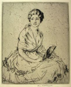 Image of Seated Lady with Fan