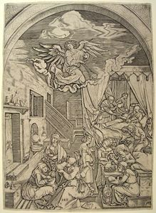 Image of The Birth of Mary, after Albrecht Dürer