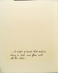 Image of Nights of Travel That Flew with the Stars, Verse Folio Page