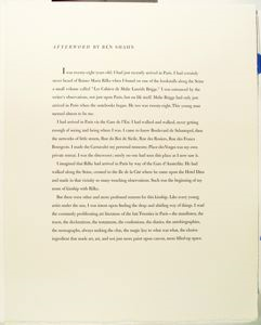 Image of Afterword by Ben Shahn