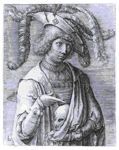Image of Portrait of a Young Man with a Skull