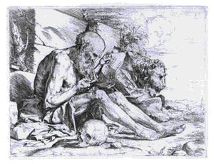 Image of St. Jerome Reading