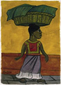 Image of Woman with Basket