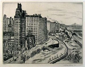Image of Riverside Drive, Winter