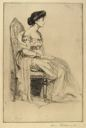 Image of Seated Lady in Evening Dress