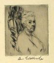 Image of Portrait of an Elderly Lady: Three-Quarter View