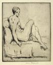 Image of Nude Seated on a Couch