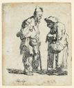 Image of Beggar Man and Beggar Woman Conversing