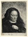 Image of The Artist's Mother with Her Hand on Her Chest: Small Bust