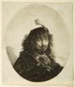 Image of Self-Portrait with Plumed Cap and Lowered Sabre