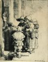 Image of Beggars Receiving Alms at the Door of a House