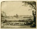Image of Canal with a Large Boat and a Bridge (Het Schuytje Op De Voorgrondt)