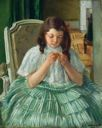 Image of Francoise in Green, Sewing